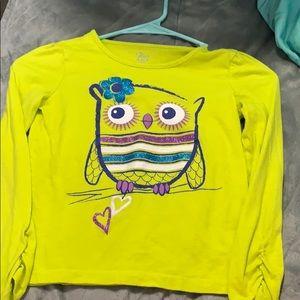 Super Cute Girl's Owl Shirt
